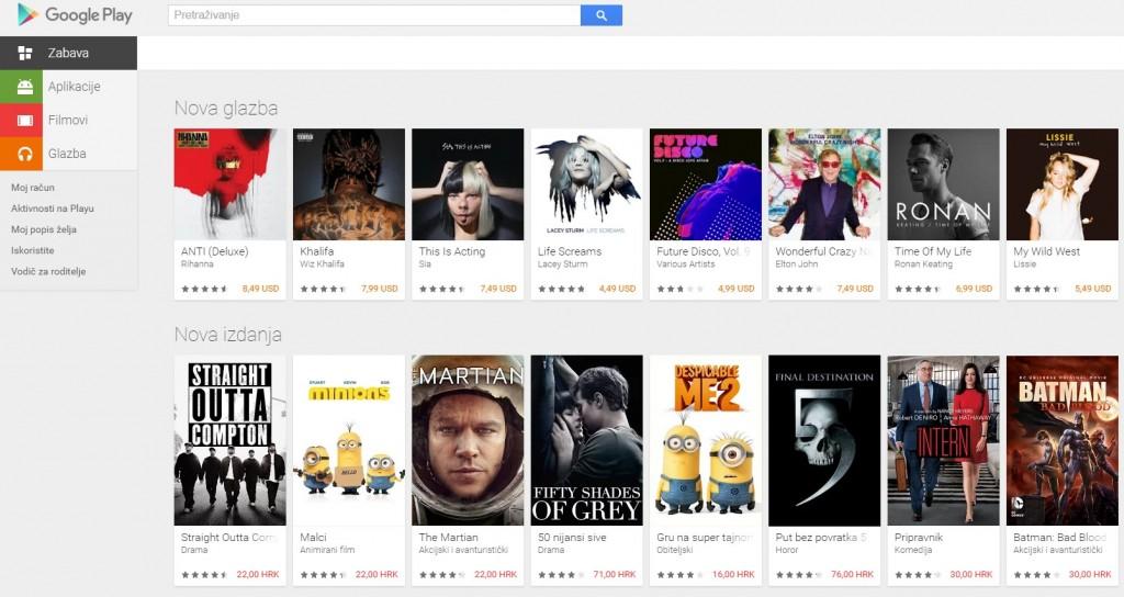 Google Play bez knjiga