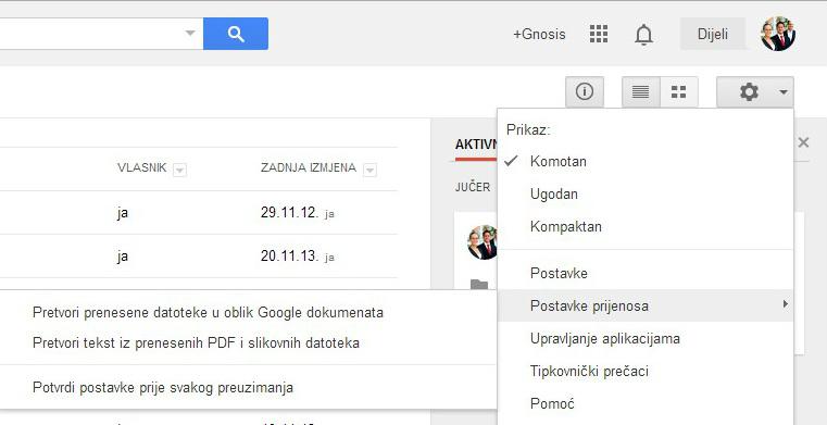 Google Docs slika
