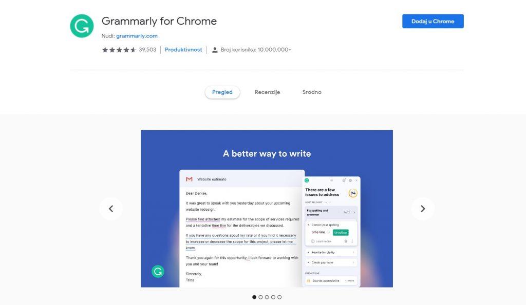 Google Chrome dodaci
